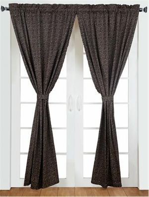 Colfax Flower Style 2 Panel Curtain Set With Cotton Liner Brand VHC