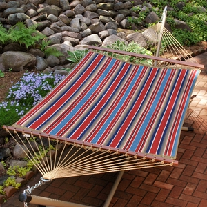 Colonial Stripe 11' Reversible Quilted Hammock by Alogma