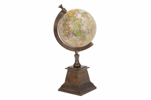 Color Aluminum Globe, 18 Inch Height, 9 Inch Width Brand Woodland