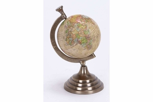 Colored Aluminum Globe, 10 Inch Height, 5 Inch Width Brand Woodland
