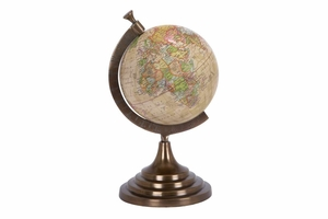 Colored Aluminum Globe 15 Inch Height, 8 Inch Width Brand Woodland