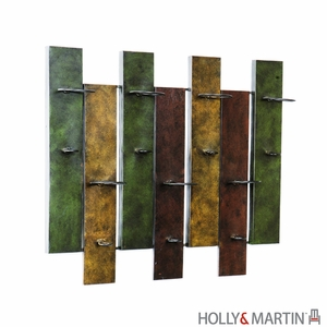 Colorful and Artistic Santa Cruz Wall Mount Wine Rack by Southern Enterprises