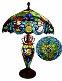 Colorful and Bright Victorian Table Lamp by Chloe Lighting