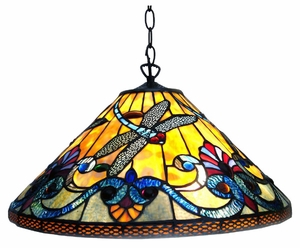 Colorful and Delightful Dragonfly Pendant Lamp by Chloe Lighting