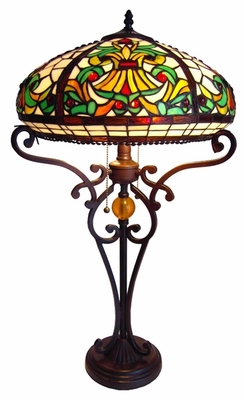 Colorful and Stunning Victorian Table Lamp by Chloe Lighting