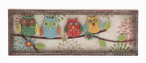 Multihued Lovely Birdie Wall Decor - 55517 by Benzara