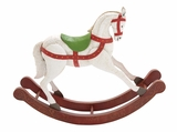 "Colorful Metal Rocking White Stallion 46""W, 37""H by Woodland Import"