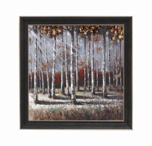 "Colorful Natural Scenery 35"" Framed Art Decor in Black Frame Brand Woodland"