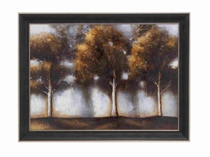 "Colorful Natural Scenery Depicted 35"" Framed Art Decor Brand Woodland"