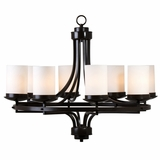Columbia Rock Mesmerizing Piece of 8 Lights Chandelier in Oil Rubbed Bronze by Yosemite Home Decor