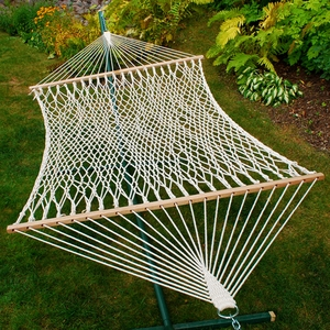 Comfortable 13' Cotton Rope Hammock by Alogma