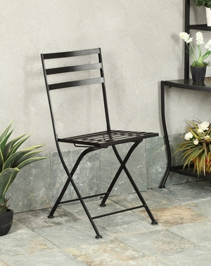 Comfortable and Trendy Black Metallic Chair by 4D Concepts