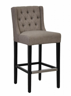 Comfortable Cushioned Wooden Hallandale Bar Stool