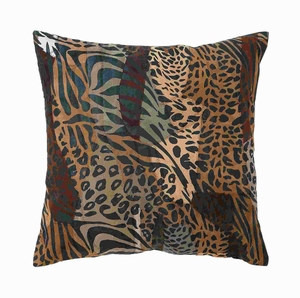 Comfortable Real Leather Authentic Pillow With Spotted Pattern - 23650 by Benzara