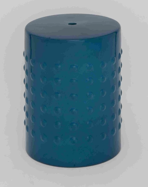 "Compact and Portable 18"" H Ceramic Stool in Lovely Aqua Blue Brand Woodland"