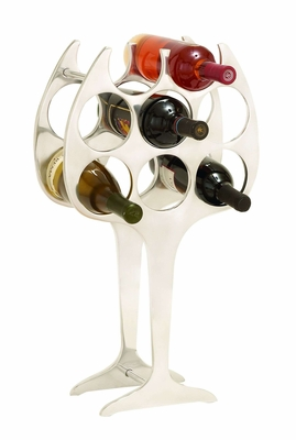 Compact Design Aluminum Wine Rack For Your Bar Brand Woodland