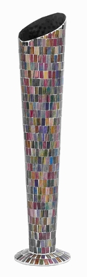 Compact Design Decor Enhancing Metal Glass Vase with Stable Base Brand Woodland