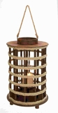 Compact Design Wood Lantern with Rope Handle and Small Cap Brand Woodland