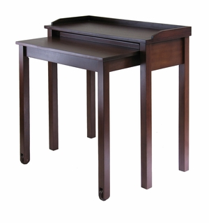 Winsome Wood Compact Wooden Kendall Computer Desk with Wheels