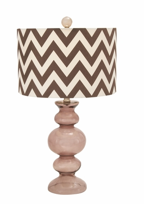 Compelling elegant Styled Glass Table Lamp by Woodland Import