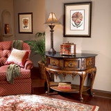 "Connoisseur's Demilune Console Table 42""W by Butler Specialty"