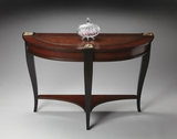 "Connoisseur's Demilune Console Table 48""W by Butler Specialty"