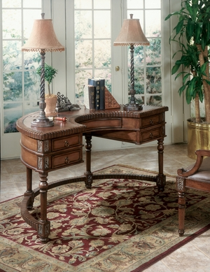 "Connoisseur's Demilune Desk 60""W by Butler Specialty"
