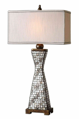 Consilina Shell Table Lamp with Bronze Detailing Brand Uttermost