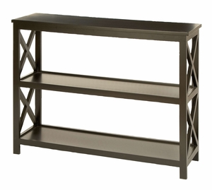 Console Table - Treated Wood Console Table With Cross Support Brand Woodland