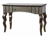 Console Table - Unique Solid Mahogany Console Table With Waved Legs Brand Uttermost