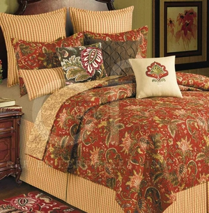 Constantine Cotton Floral Oversized Queen Quilt Brand C&F