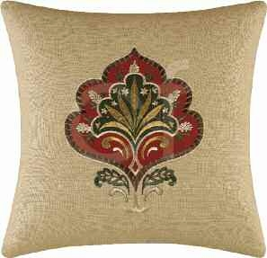 Constantine Embroidered Pillow 16 x16 Inches Brand C&F