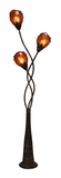 "Contemporary 70"" H Metal Abaca Floor Lamp with Dainty Design Brand Woodland"
