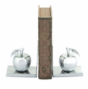 Contemporary Aluminum Apple Bookend Brand Woodland