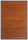 Contemporary Chocolate Bamboo Rug 4' x 6' Brand Anji Mountain by Anji Mountain