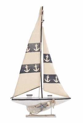 Contemporary Creative Styled Wood Sail Boat by Woodland Import