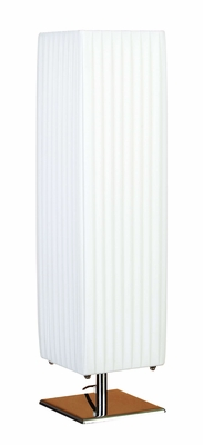 Contemporary Designer Table Lamp with Detailing in White Brand Woodland