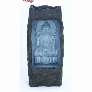 Contemporary Fiber Glass Buddha Fountain with Intricate Design Brand Woodland