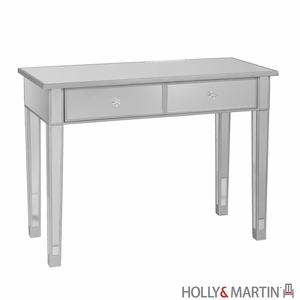 Contemporary Holly & Martin Montrose Mirrored Console Table by Southern Enterprises