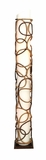 Contemporary Metal Abaca Floor Lamp with Sturdy Design in Brown Brand Woodland