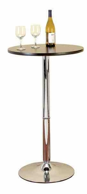 Contemporary Metal Bar Table Crafted with Intricate Sleek Design Brand Woodland