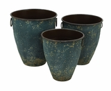 Contemporary Metal Classic Planter in Conical Shape - Set of 3 Brand Woodland