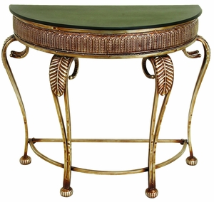 Contemporary Metal Console Table with Sturdy Curve Legs Design Brand Woodland
