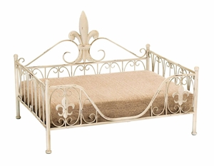 Contemporary Metal Pet Bed with Elegant Curves and Fine Detailing Brand Woodland