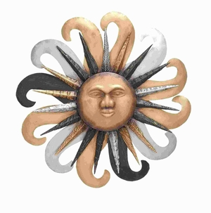 Contemporary Metal Sun Wall Hanging Ensuring Long Lasting Sheen Brand Woodland