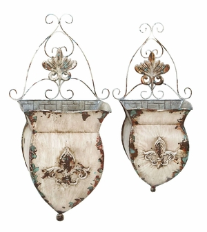 Contemporary Metal Wall Pockets with Rustic Look - Large Brand Woodland