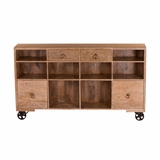 Contemporary Mobile Storage Sideboard by Yosemite Home Decor