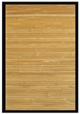 Contemporary Natural Bamboo Rug 4' x 6' Brand Anji Mountain by Anji Mountain