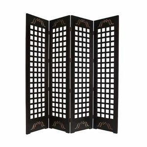 Contemporary Omega Screen Transitionally Crafted in Square Design Brand Screen Gem