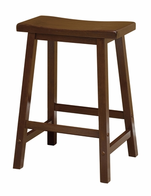 "Contemporary Piece of 24"" Saddle Seat Stool by Winsome Woods"